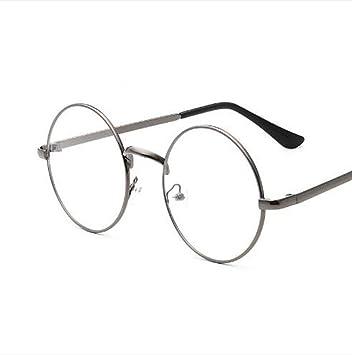 c2d089c028 MTSZZF Unisex Round Glasses Metal Frame Summer Retro Clear Lens Vintage  Geek Oversized Eyelasses  Amazon.co.uk  Kitchen   Home