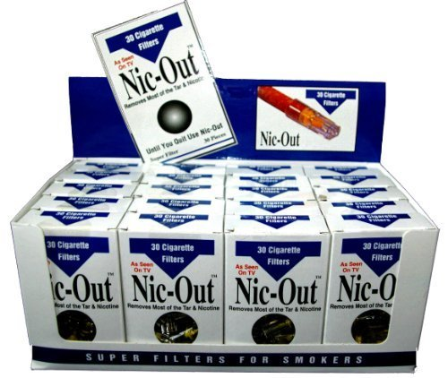 Nic-Out Cigarette Filters For Smokers, 30 Filters - 20 Packs Wholesale by Nic-Out