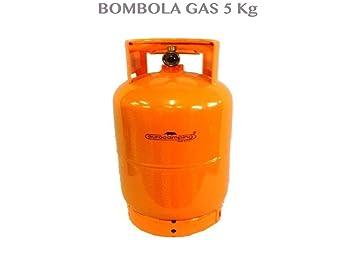 1713058 bombona 5 kg recargable de camping vacía Casa Camping Barbacoa Cocina: Amazon.es: Jardín