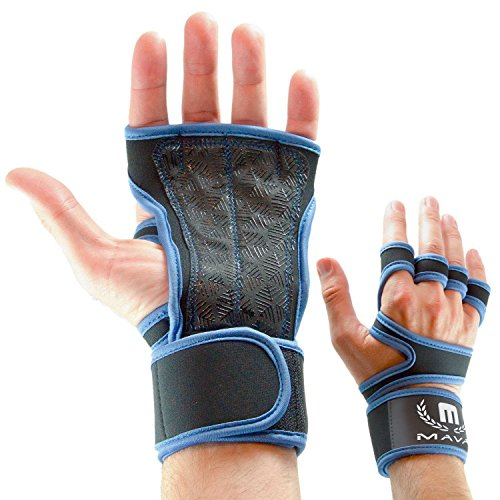 Mava Sports Workout Grips for Gym Workout, Cross Training with Silicone Padding gloves