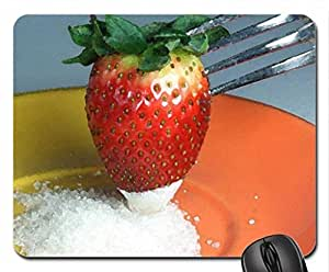 Strawberry In Sugar Mouse Pad, Mousepad (Watercolor style) by mcsharks