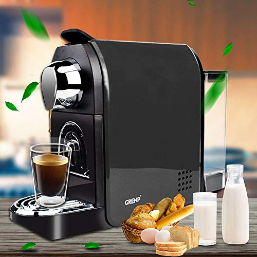 Espresso Machine for Coffee Capsules Compatible with Nespresso OriginalLine Machine, Espresso Maker for Nespresso OriginalLine, Bestpresso Coffee Capsules, Gourmesso Bundle, Jones Brothers Coffee, Battistino Coffee, Rosso Caffe, Peet's Espresso and lots more -By Grenp (Black)