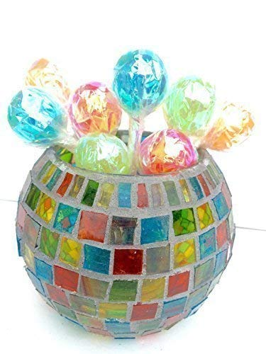 Stained Glass Mosaic Candle Holder, Carnival, Party Décor, Candy -
