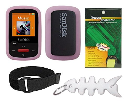 Pink Soft Skin Case + Screen Protector + Armband + Smart Cor