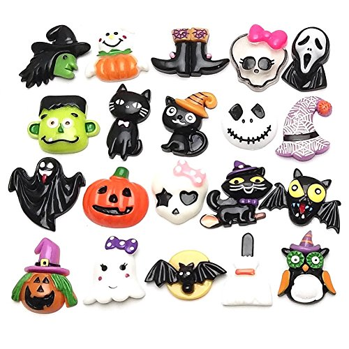 Hestio 50pcs Mix Halloween Flatback Resin Cabochon For Phone Decoratin Diy (Halloween Decoratins)