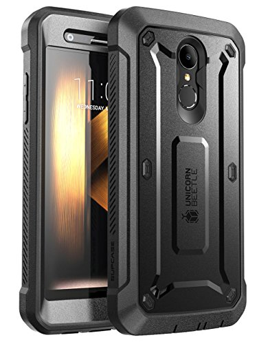 Case Rubberized Black Protector Shield (LG K30 Case, SUPCASE [UB PRO] Full-Body Rugged Drop-Proof Case with Built-in Screen Protector and Rotating Belt Clip Holster for LG K30 / LG Premier Pro/LG K10 2018 Release (Black))