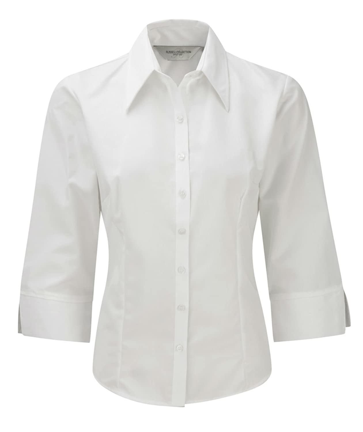 Russell Ladies 3/4 Sleeve Tencel Fitted Shirt Blouse