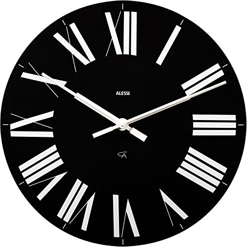 Alessi Firenze Wall Clock, Black by Alessi