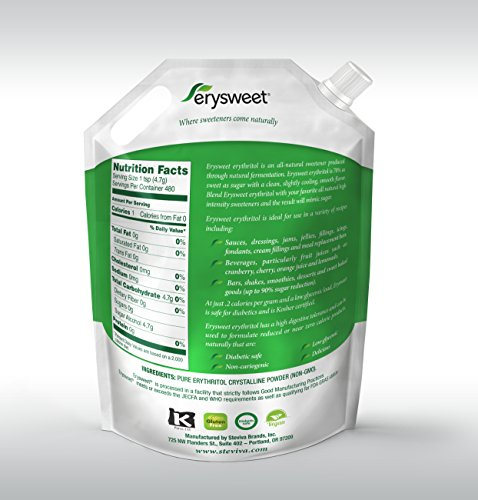 Erysweet Erythritol 5 lb bag NonGMO Low Carb Sweetener by Steviva (Image #2)