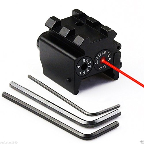 Lanboo Mini Red Dot Laser Sight, Adjustable Compact with Det