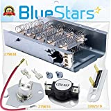 279838 & 279816 & 3392519 Dryer Heating Element and Thermal Cut-off Fuse Kit Replacement by Blue Stars – Exact Fit For Whirlpool & Kenmore Dryers