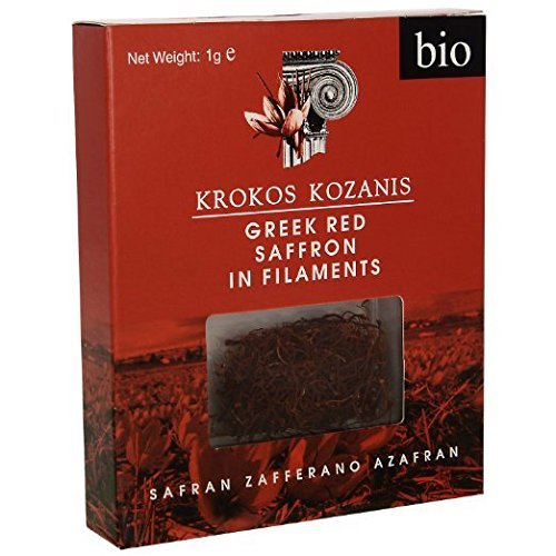 Krokos Kozanis Organic Red Saffron in Filaments 25g (pack of 25x1g) by Cooperative de Safran
