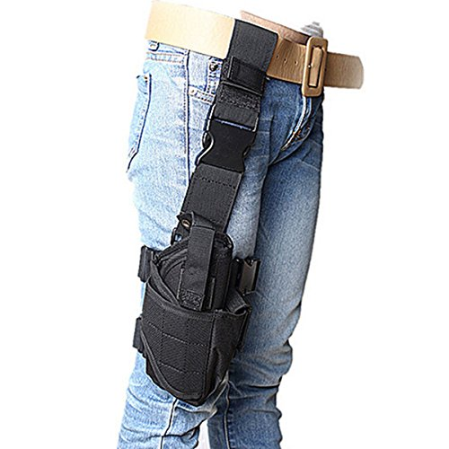 LarKoo Leg Drop Gun Pistol Holster Bag - Tactical Military Adjustable Thigh...