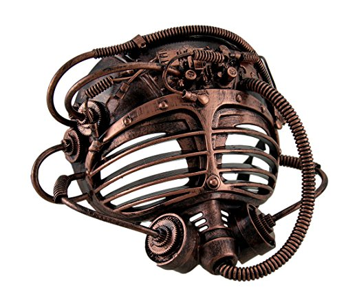 [Steampunk Submarine Diver Metallic Finish Full Face Mask] (Cool Gas Mask Costumes)