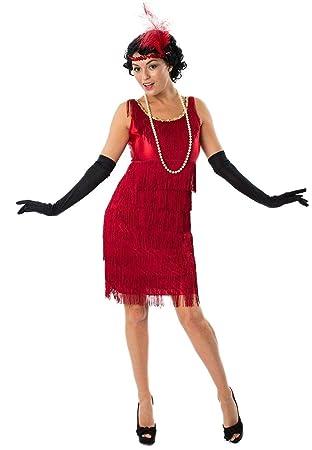 c6cfc313cea87 Déguisement Adulte Robe Charleston Rouge Années 20 Small