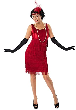 b07b10ee52a Orion Costumes Womens Red Flapper Dress 1920s Gatsby Charleston Costume  Small