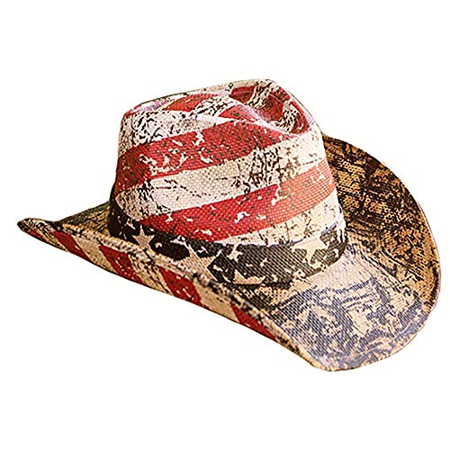 (American Flag Distressed Cowboy Hat (Distressed))