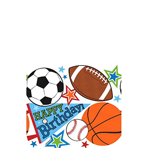 Plastic Table Cover | Superstar Ball Sports Collection | Birthday | 18 Ct.