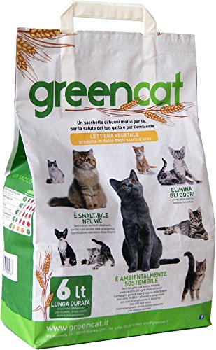 Arenero para gatos greencat 100% Biodegradable smaltibile inodoro/compostabile