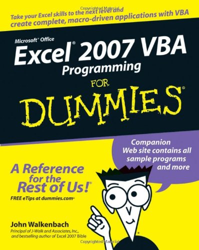[PDF] Excel 2007 VBA Programming For Dummies Free Download   Publisher : For Dummies   Category : Computers & Internet   ISBN 10 : 0470046740   ISBN 13 : 9780470046746