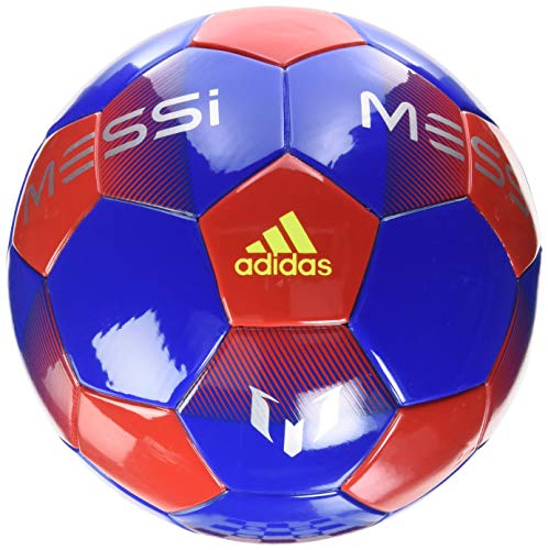 adidas Messi Mini Ball Football Blue/Active Red/Silver Metallic/Solar Yellow, 1