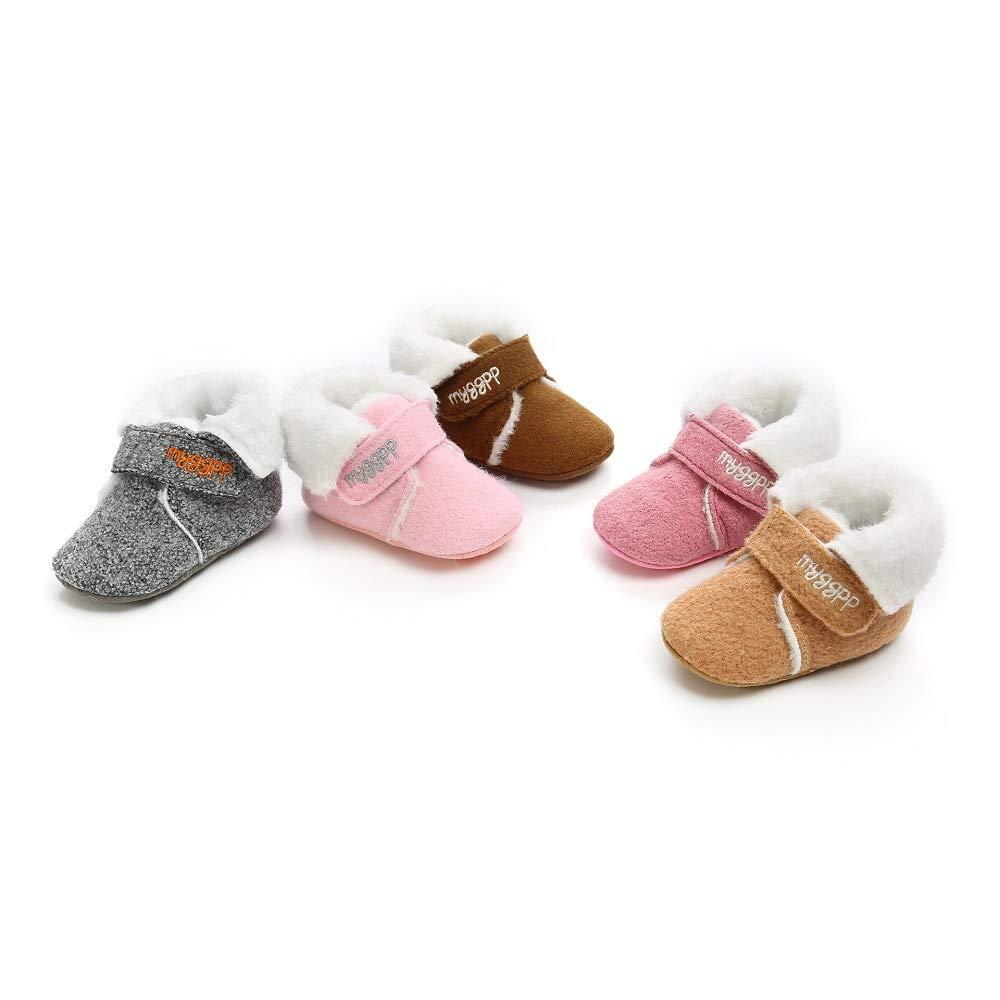 Baby Infant Boys Girls Warm Winter Snow Boots Slippers Soft Sole Anti-Slip Booties Newborn Prewalker Shoes