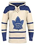 Old Time Hockey NHL Toronto Maple Leafs Men's Vintage Lacer Heavyweight Hoodie, X-Large, Stone