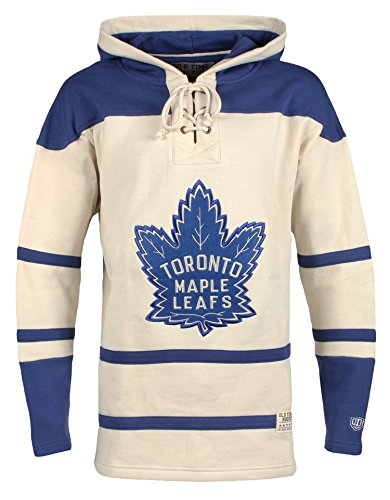 Toronto Maple Leafs Men's Vintage Lacer Heavyweight Hoodie, XX-Large, Stone ()