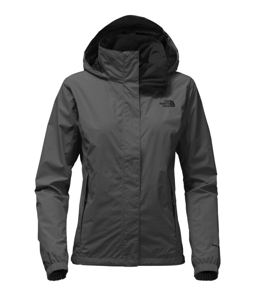 The North Face Women's Resolve 2 Jacket - Asphalt Grey/TNF Black - L