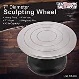 "US Art Supply 7"" Diameter Sculpting Wheel- Heavy"
