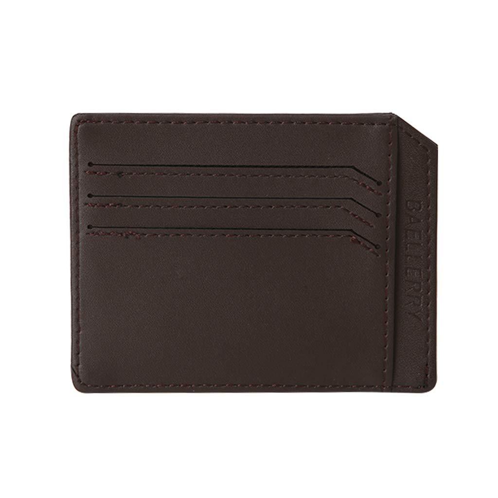 yangerous Slim Fashionable Credit Card Wallet License Package Cards Holder Cash Pocket Purse (Coffee)
