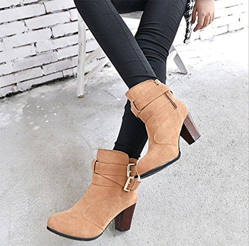 KUKI autumn and winter women boots Martin boots boots women boots short boots high heels cheap women boots , US7.5 / EU38 / UK5.5 / CN38