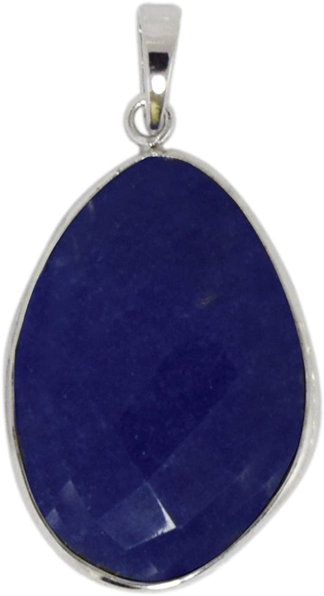 Shine Jewel Colgante de plata esterlina 925 con ónix azul y piedras preciosas. para mujer azul Onyx Blanco