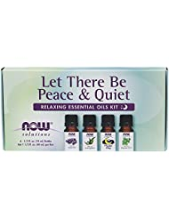 NOW Let There Be Peace and Quiet Relaxing Essential Oil Kit