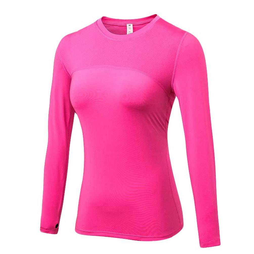 Yuncai Damen Slim Langarm Sport Yoga T-Shirt Top Freizeit Tight Running T-Shirt