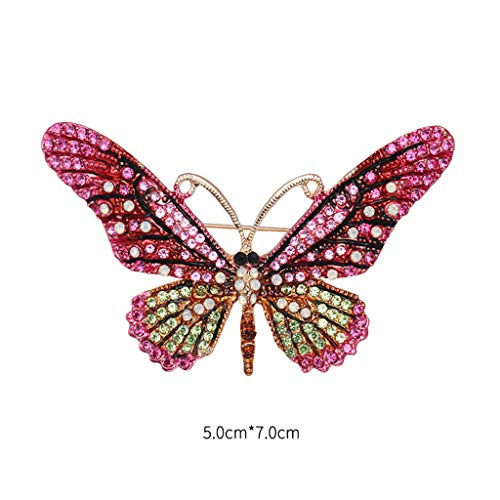 Butterfly Brooch Dress (SHNUM - Butterfly Brooch Clothes Bouquet Dress Insect Animal Badge Scarf Decoration Fashion Rhinestone Delicate Women Mom Girl Gifts)