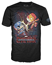 Funko Men's Pop! T-Shirts Marvel - Civil War Fight, Black, Medium