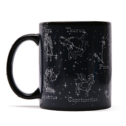 Magic Coffee Heat Sensitive Mug Constellation Cup Color Changing Zodiac Porcelain Ceramic 12 Oz for Women Men