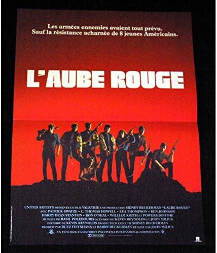 Alba rojo Póster de película, 40 x 60, 1984, Patrick Swayze ...