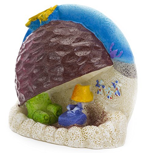 Spongebob Bikini Bottom - Spongebob Squarepants Aquarium Ornament, 2-1/2 by 2-3/4 by 1-Inch