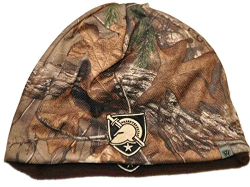 Top of the World Army Black Knights TOW Camo Brown Trap 1 Reversible Knit Winter Beanie Hat Cap (Army Knit Cap Black)