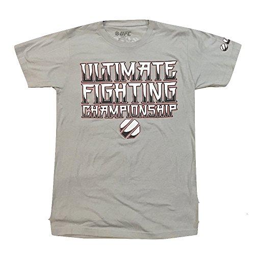 UFC Logo Ultimate Fighting Championship Adult T-Shirt Gray-L