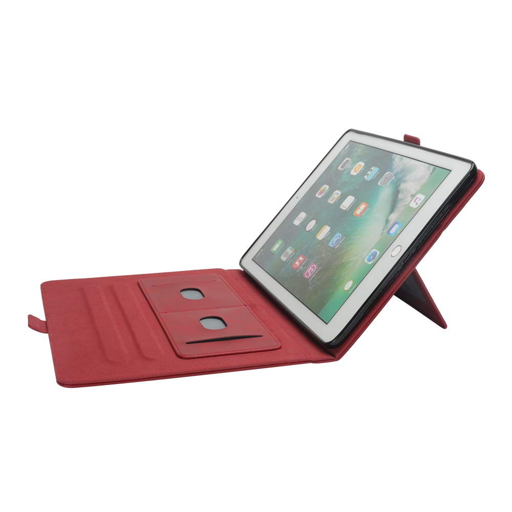 iPad 10.5 Air 3rd Generation Case, taStone Premium PU Leather Business Folio Cover Stand Case with Card Holder Auto Wake/Sleep Document Pocket for iPad Air 3rd Gen 2019 / iPad Pro 10.5'',Red by US taStone (Image #5)