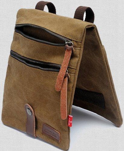 Zenness Kleine Leinwand Crossbody Umhängetasche Cool Fashion Handtasche Tasche Umhängetasche für Männer und Frauen (Kaffee) Kaffee ZSywrwD