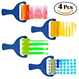 Generic Set of 4pcs Sponge Paint Roller Brush DIY Children Painting Brushes Kid Art Craft Painting Tool