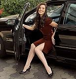 Women's Sheer Fashion 15-20 mmHg Open Toe Knee High Sock Size: B (7.5-9.5), Color: Natural 33