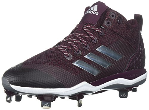 adidas Men's Freak X Carbon Mid Baseball Shoe Maroon, Silver met, FTWR White 9 M US