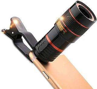 XU-XIAZHI,Clip de lentille de télescope de Photographie pour Appareil Photo à Zoom Photo Optique de téléphone Portable(Color:Noir)