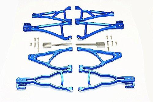 GPM Traxxas E-Revo Brushless Edition Aggiornamento Parti Aluminium Front+Rear Upper & Lower Suspension Arm - 8Pcs Set blu