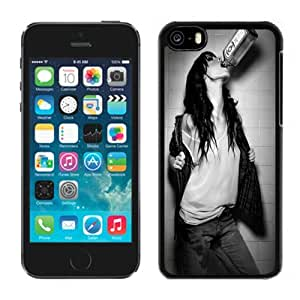 Beautiful Custom Designed Cover Case For iPhone 5C With Drinking Girl Phone Case WANGJING JINDA